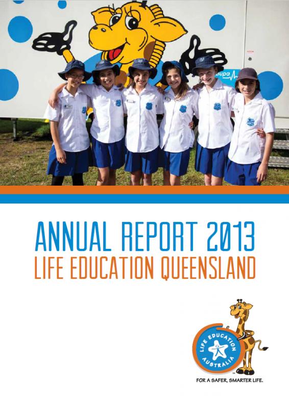 2013 Life Education Queensland annual report