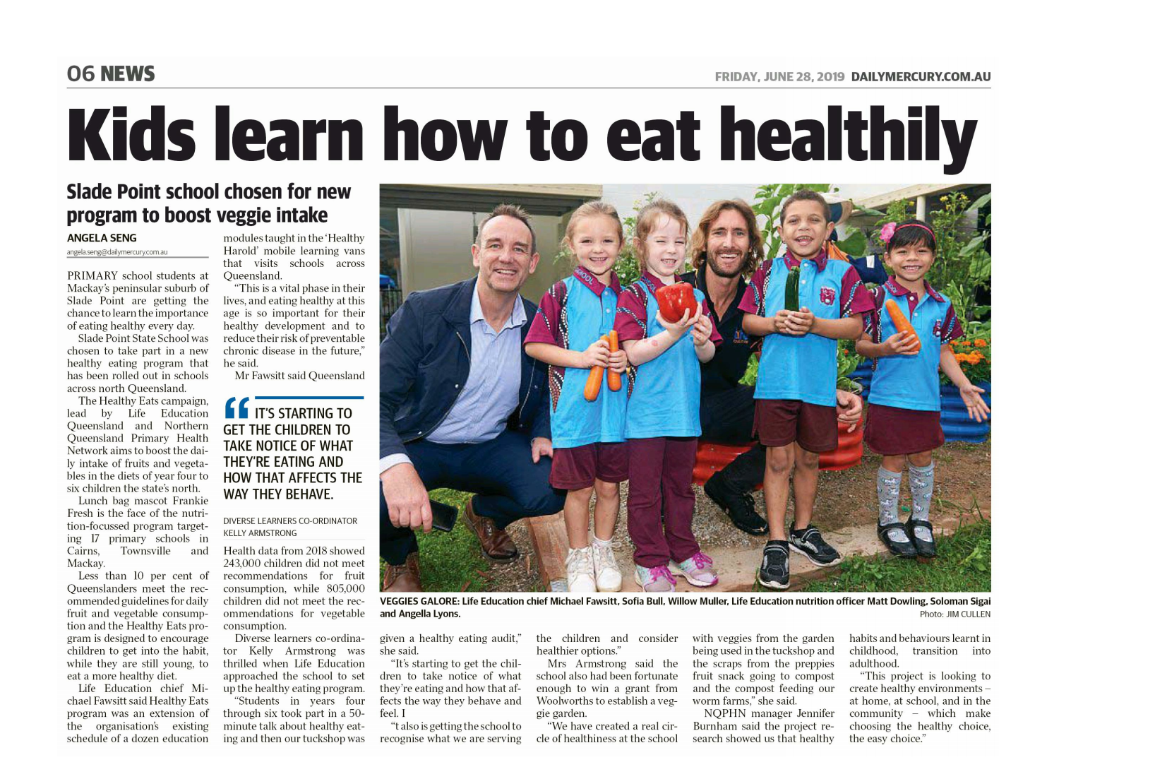 28 June Kids Learn How To Eat Healthily Daily Mercury