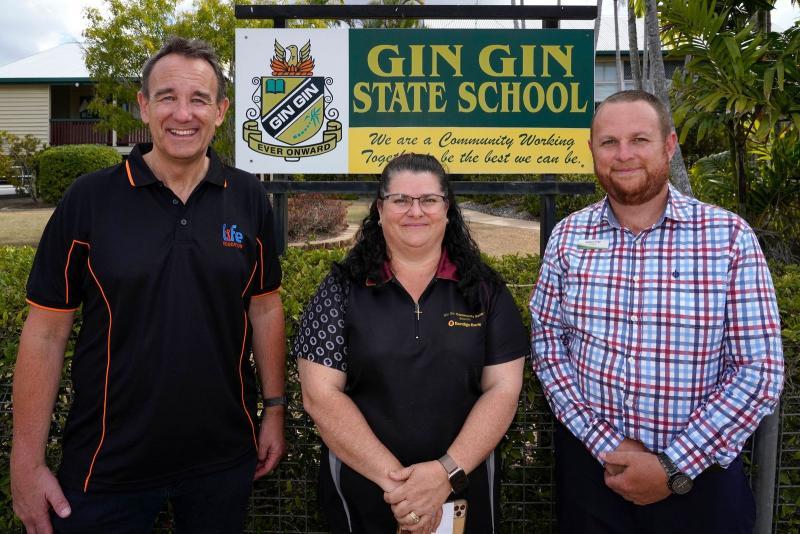 Ceo Michael Fawsitt Gin Gin Bank Susan Bengtson And Gin Gin Principal Adam Fritz