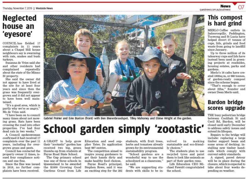 Life Education Queensland Healthy Harold Garden Grants Children