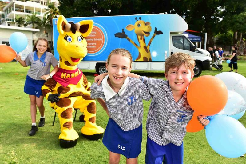 Life Education Queensland Healthy Harold New Van Launch Townsville With Children And Healthy Harold