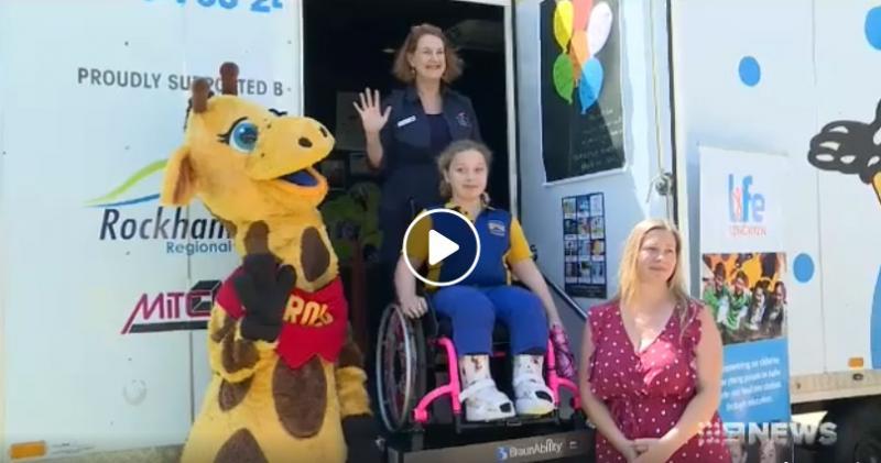 Life Education Queensland Healthy Harold Van Wheelchair Accessible Central Queensland