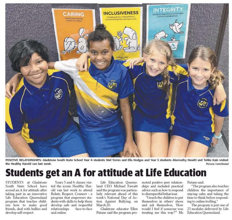 Relate, Respect, Connect Gladstone Observer 17 March 2020