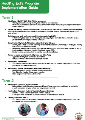 Life Education Qld Healthy Eats Implementation Guide Img