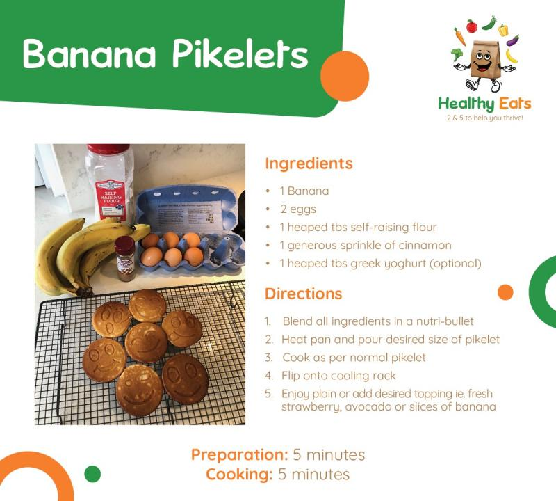 Life Education Qld Healthy Eats Pikelets Recipe