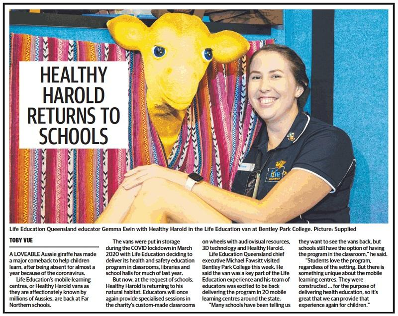 Life Education Queensland Cairns Post Feb 2021