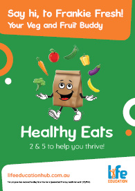 Life Education Queensland Healthy Eats Frankie Fresh School Poster