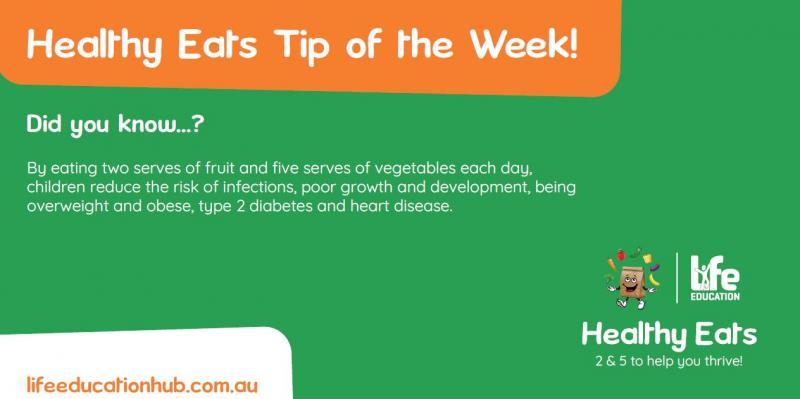 Life Education Queensland Healthy Eats Newsletter Tip Of The Week