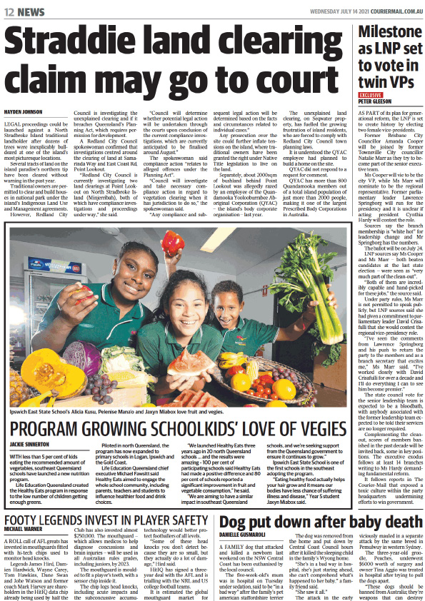Life Education Queensland Healthy Harold Healthy Eats Courier Mail July 2021