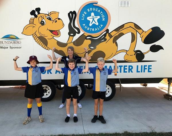Life Education Queensland Healthy Harold Hundred Rylann Kalkie State School